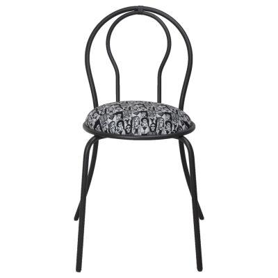 Parisien Metal Dining Chair, Black