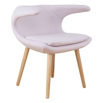 Vero Linen Fabric Dining Armchair, Blush