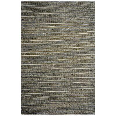 Festival Handmade Wool Rug, 230x160cm, Grey / Yellow