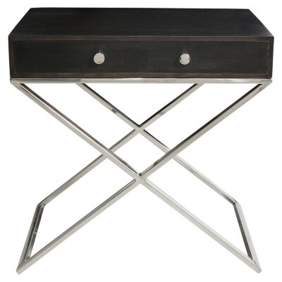 Artarmon Wood &  Stainless Steel Side Table