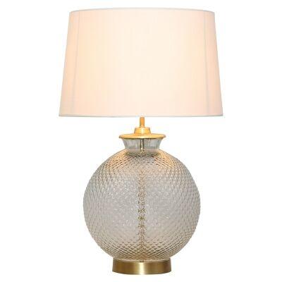 Horton Embossed Glass Base Table Lamp