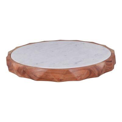 Nova Marble & Timber Round Tray