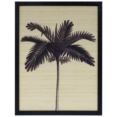 Baston Timber Framed Rattan Wall Art Print, Royal Palm, 82cm