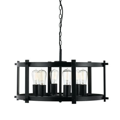 Finley Metal Pendant Light, Large, Black