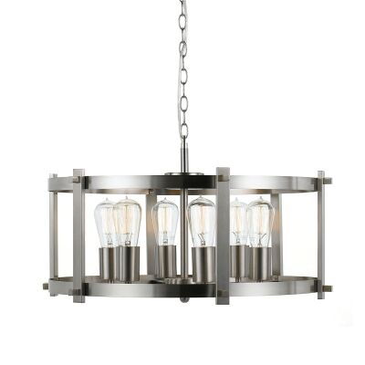 Finley Metal Pendant Light, Large, Nickel