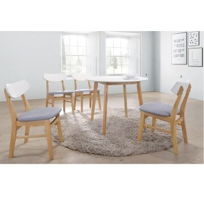 Ikast Woodn Round Dining Table, 90cm
