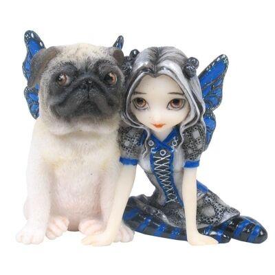 Jasmine Becket-Griffith's Strangeling Fairies Figurine, Pug Pixie
