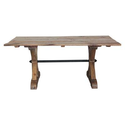 Pokolbin Recycled Boat Wood Trestle Dining Table, 180cm