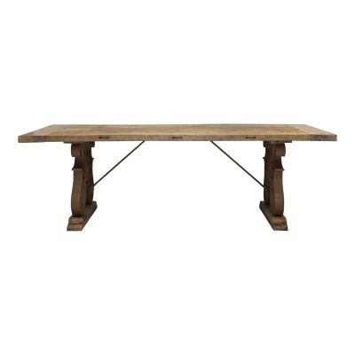Admon Recycled Boat Wood & Metal Dining Table, 240cm