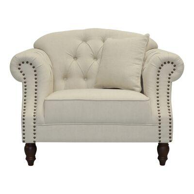 Vaucluse Fabric Armchair, Beige