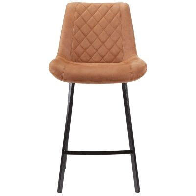 Syed Ultrasuede Fabric Counter Stool, Cognac