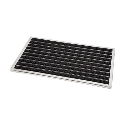 Fllyn Stainless Steel Door Mat, Extra Large, Silver