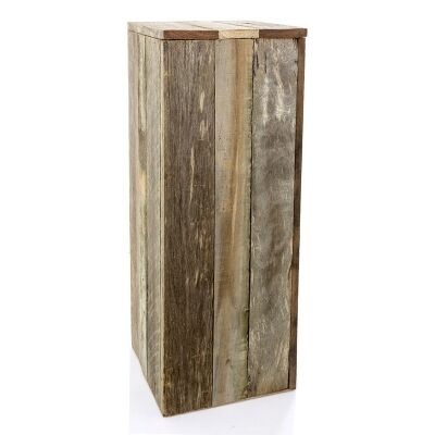 Tupelo Recycled Timber Plinth - Medium