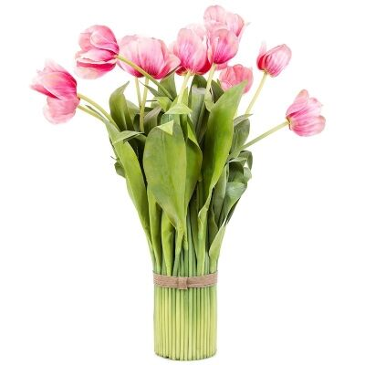 Artificial Tulip Bundle, Pink