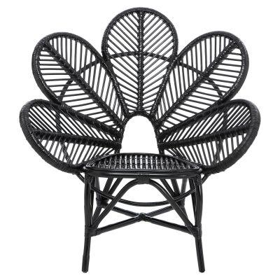 Kavalari Rattan Flower Chair, Black