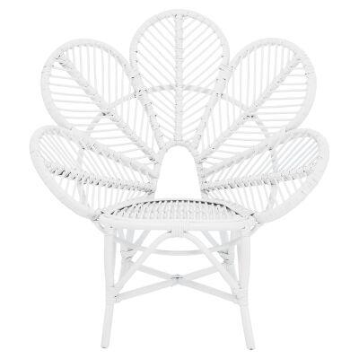 Kavalari Rattan Flower Chair, White