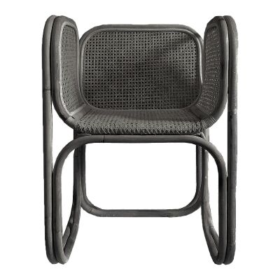 Mon Rattan Dining Chair, Black