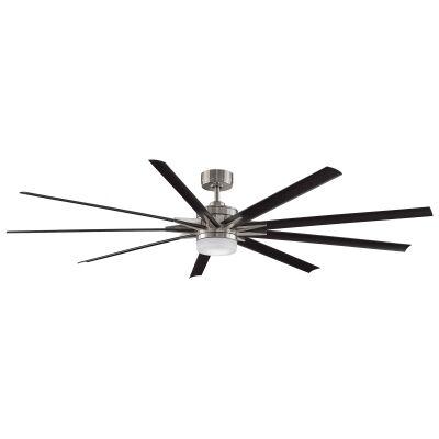 "Fanimation Odyn DC Ceiling Fan with LED Light, 213cm/84"", Brushed Nickel / Black"