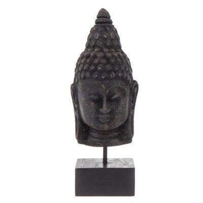 Budi Mango Wood Buddha Head Sculpture