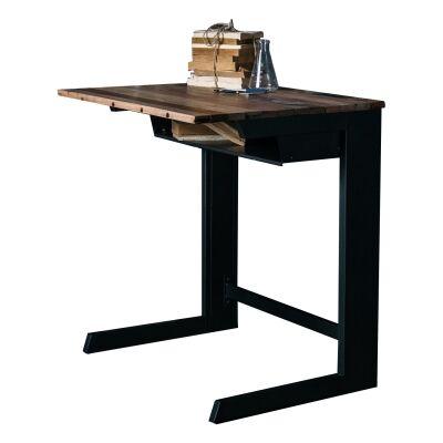 Fokus Reclaimed Timber & Iron Student Desk, 70cm