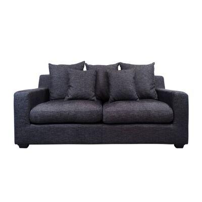 Cynthia Fabric Sofa, 2.5 Seater, Dark Grey
