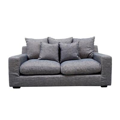 Cynthia Fabric Sofa, 2.5 Seater, Light Grey