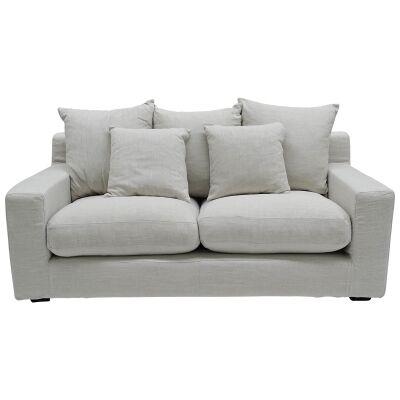 Cynthia Fabric Sofa, 2.5 Seater, Oatmeal