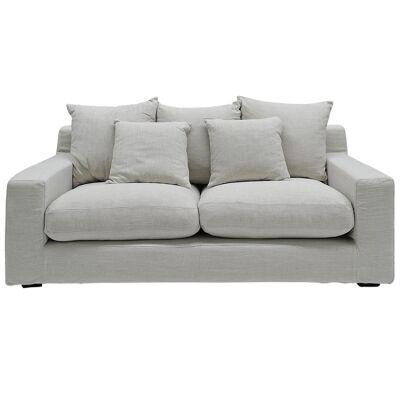 Cynthia Fabric Sofa, 3 Seater, Oatmeal