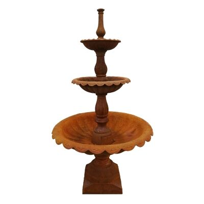 Lisbon 3 Tier Cast Iron Garden Fountain, Rust