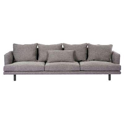 Cody Linen Fabric Sofa, 4 Seater, Stone