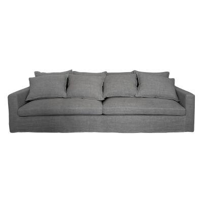 Igor Linen Slipcovered Sofa, 3 Seater, Pavement