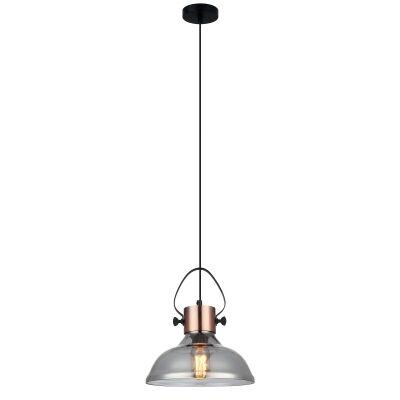 Fumoso Glass Pendant Light, Dome