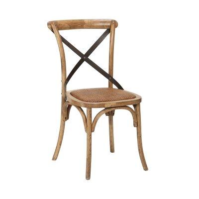 Denver Cross Back Elm Timber Dining Chair