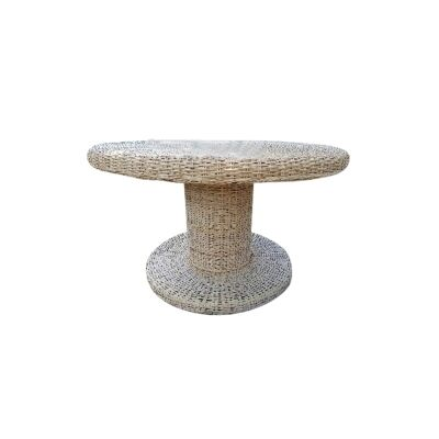 Long Island Rattan Round Dining Table, 130cm