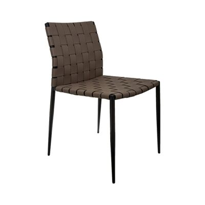 Jacq Leather Strap Dining Chair, Brown