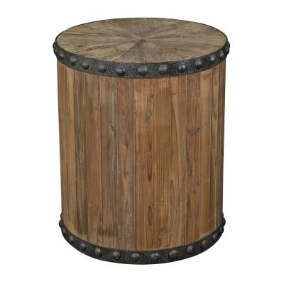 Florentin Oak Timber Round Side Table