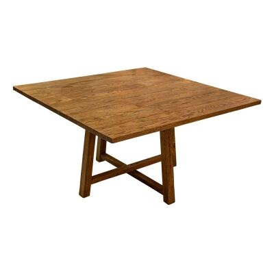 Buisson Oak Timber Square Dining Table, 140cm