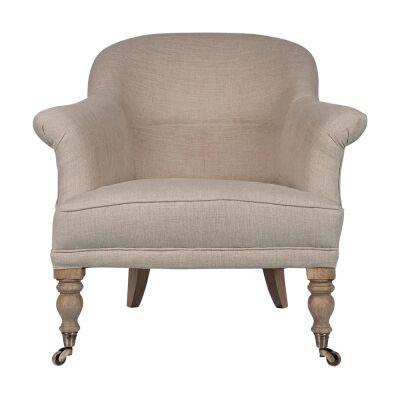 Gaby Linen Fabric Armchair