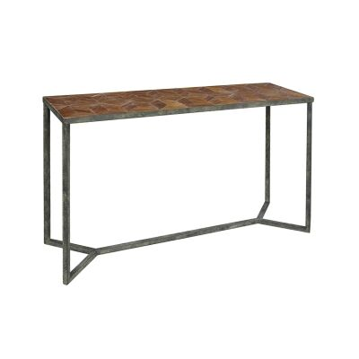 Ned Parquet Top Console Table, 140cm
