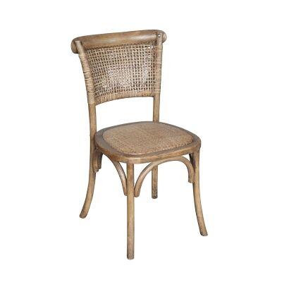 Denver Oak Timber & Rattan Dining Chair