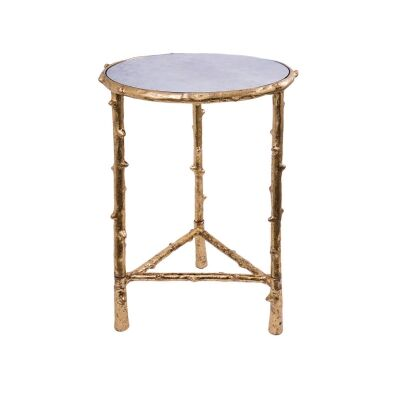 Baldwin Metal Round Side Table