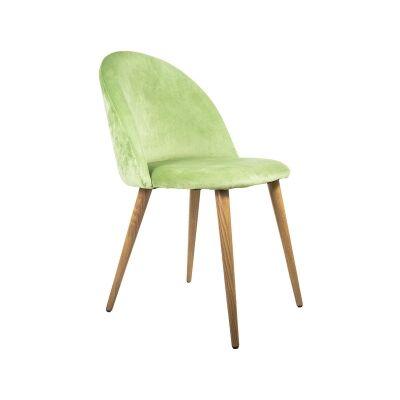 Diamond Velvet Fabric Dining Chair, Green