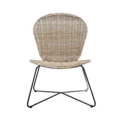 Mauritius Rattan & Metal Lounge Chair