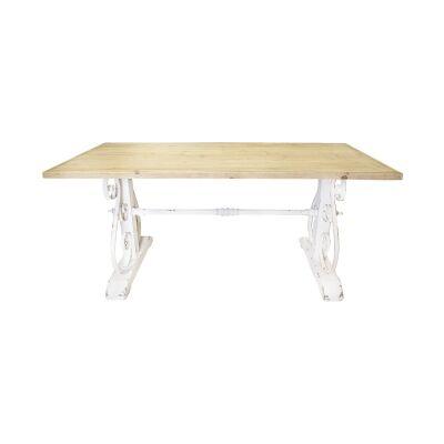 Bordeaux Wood & Metal Dining Table, 180cm