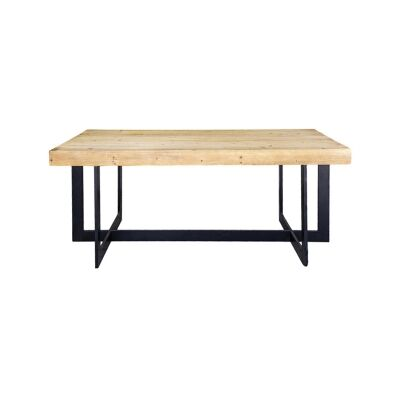 Toby Wood & Metal Dining Table, 190cm
