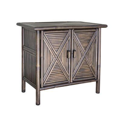 Talbot 2 Door Bamboo Cabinet