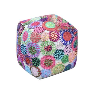Swiffer Recycled Fabric Square Pouf