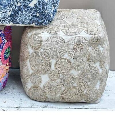 Swiffer Cotton & Hemp Square Pouf