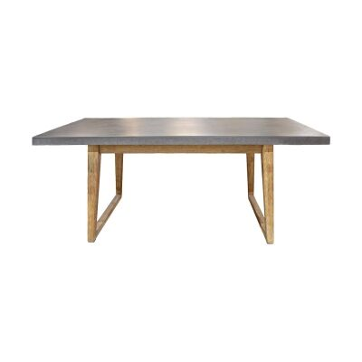 Hanoi Poly Cement & Timber Dining Table, 180cm