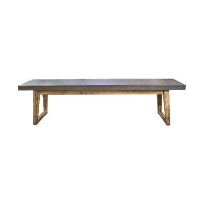 Hanoi Poly Cement & Timber Dining Bench, 180cm